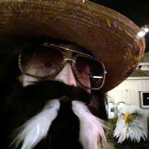 Jimmie Ray Swagger and his pet eagle